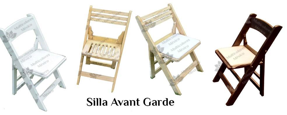 Muebles de madera multicolores m xico for Silla avant garde